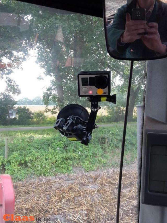 De Gopro camera voor een interview.