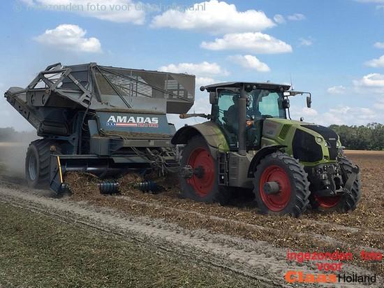Pinda's oogsten in usa/ Peanut harvest in USA