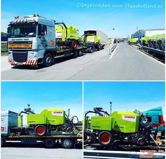 Claas machines op transport met van Der Vlist Twente. Deel 4