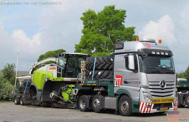Claas machines op transport met van Der Vlist Twente. Deel 2.