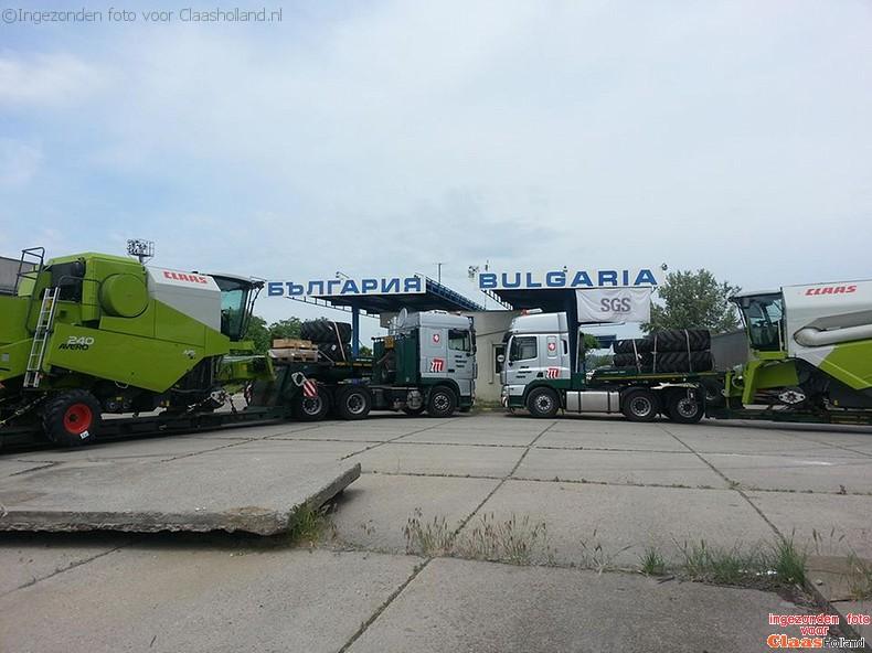 Claas machines op transport door van Der Vlist Twente deel 5.