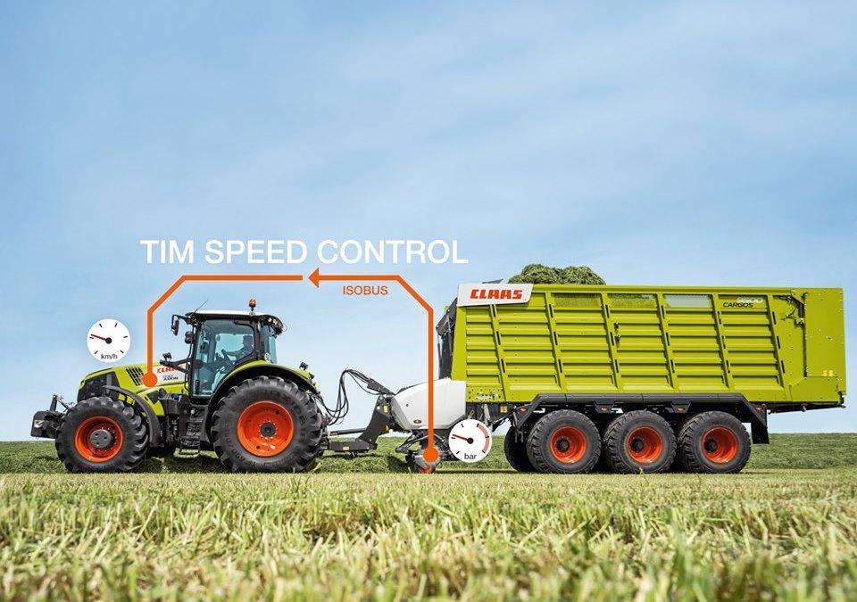 TIM SPEED CONTROL bestuurt de tractor