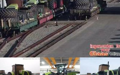 Claas transport on the railway part 1