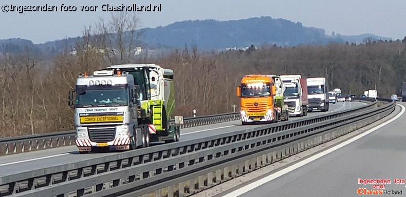 Claas machines op transport door van Der Vlist Twente deel 22