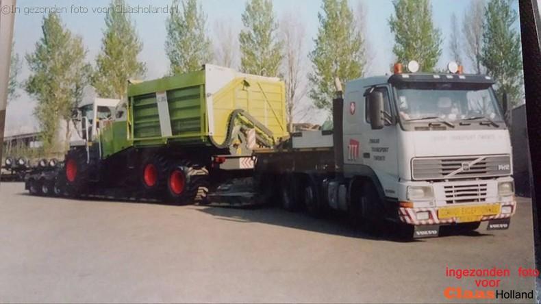 Claas machines op transport door van Der Vlist deel 17 *de oude kleur*