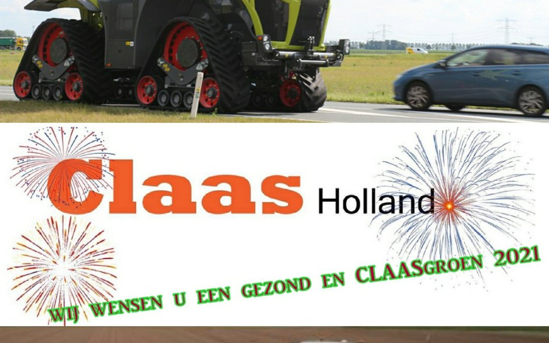 Claas Holland's New Year's wish in Eng, DE, ZAF, FR, NLD.