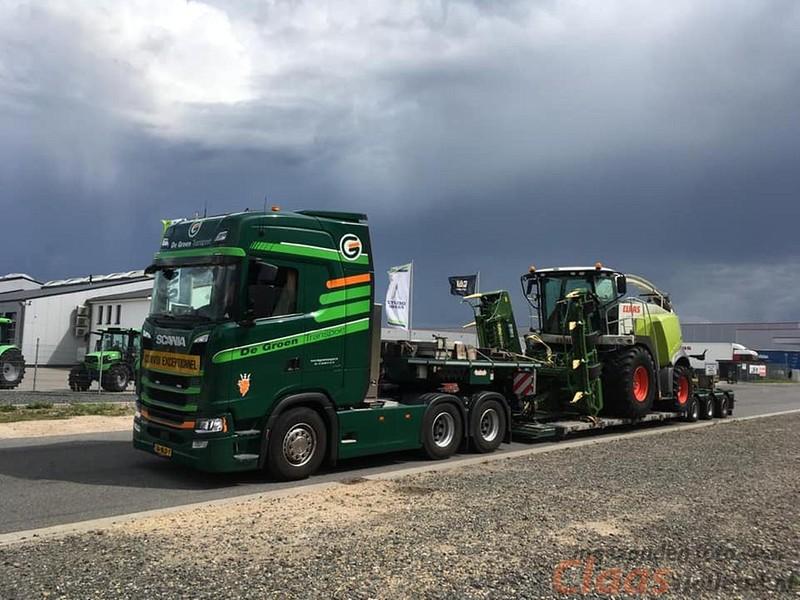CLAAS machines op transport met De Groen transport. Deel 1