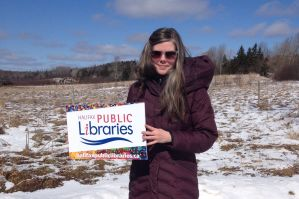 Halifax Public Libraries - Community Librarian Amanda Fullerton, collaborating with the community and exploring innovative ways to bring library services to a rural area of the municipality.