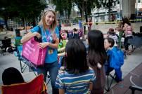 Edmonton Public Library - Megan Wilson delivering a program at the EPL Squared Celebration