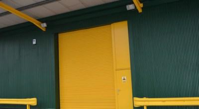 Britannia Willis Roller Shutter Door After On-site Spraying