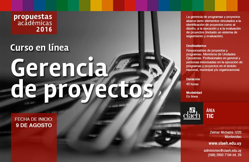 Agosto Flyer2016 Tics GerenciaProyectos