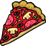 clip-art image of a pizza slice