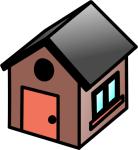 simple house clipart