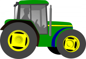 clipart image of a green tractor