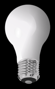 clipart image of a light bulb