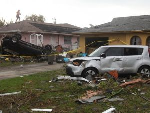 Tornado damage to homes in Cape Coral Florida in 2016