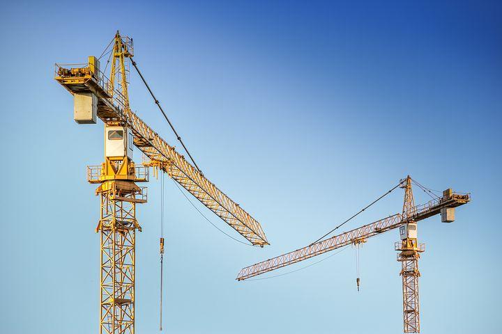 Cranes on Blue Sykline