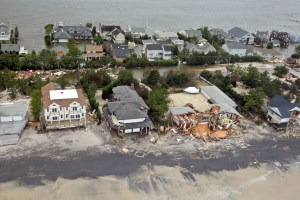 Aerial views of the damage caused by Hurricane Sandy to the New Jersey coast taken during a search and rescue mission by 1-150 Assault Helicopter Battalion, New Jersey Army National Guard, Oct. 30, 2012. (U.S. Air Force photo by Master Sgt. Mark C. Olsen/Released)