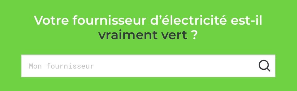 Choisir son fournisseur d'électricité verte