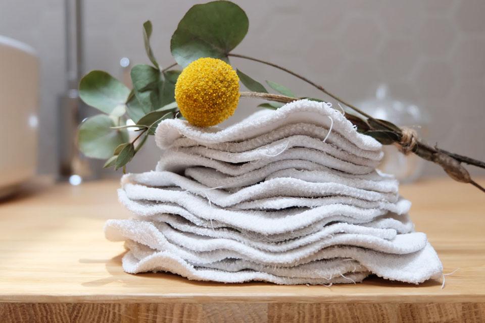 Faire le stock de carrés et longuettes lavables