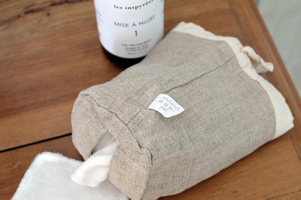Le produit phare de la boutique Manamani : l'étui de cotons lavables
