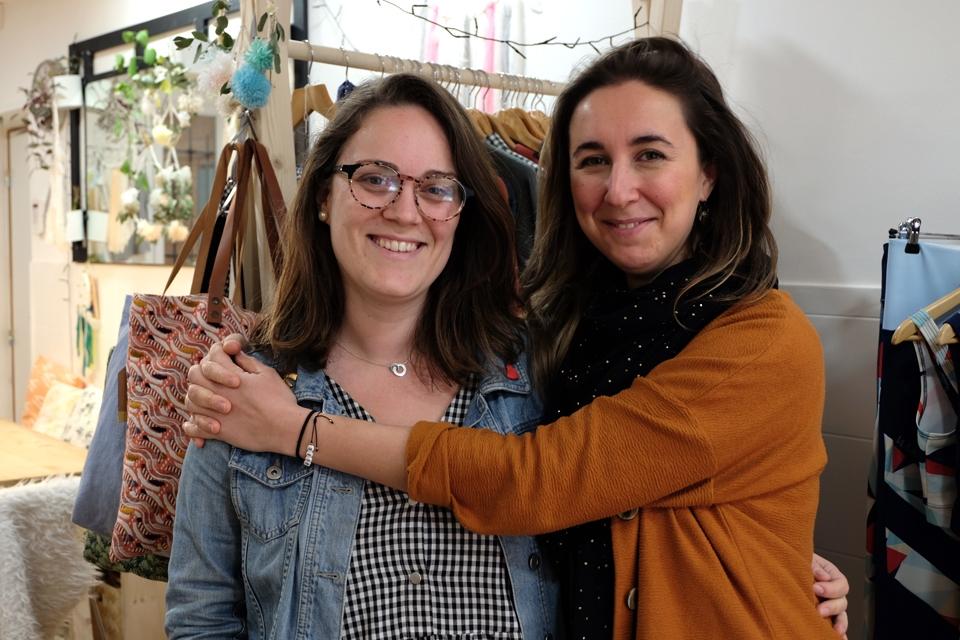 Les co-fondatrices du projet Ines (à droite) et Julie (à gauche)