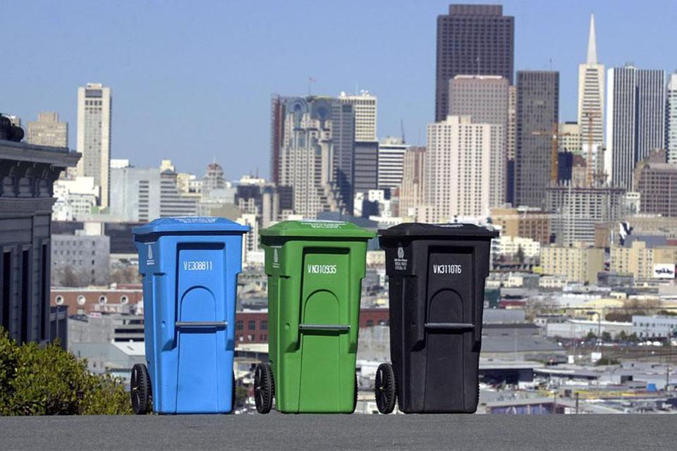 Les différents bacs à déchets de San Francisco