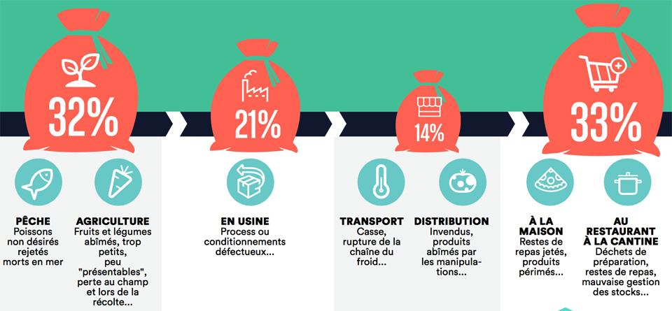 Une illustration du site Qu'est-ce qu'on fait sur le gaspillage alimentaire