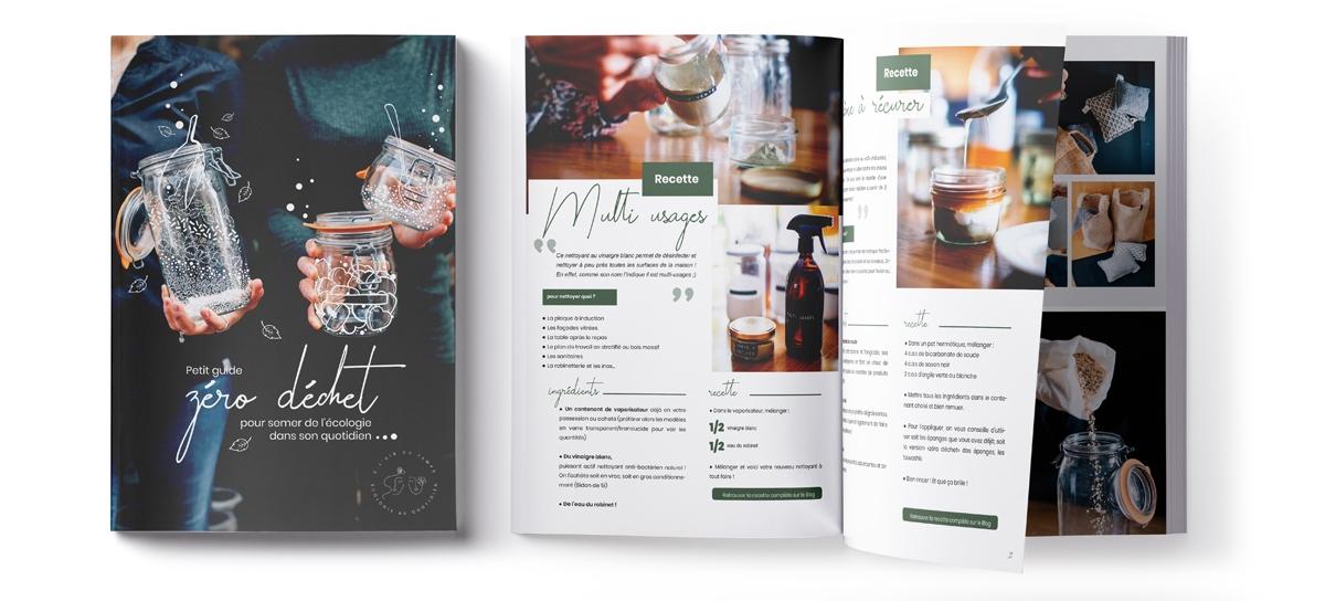E-book zéro déchet Couverture et Pages Intérieures