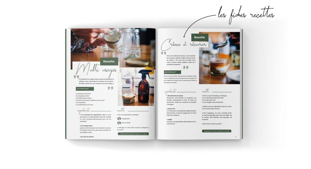 ebook zéro déchet incluant des recettes détaillées