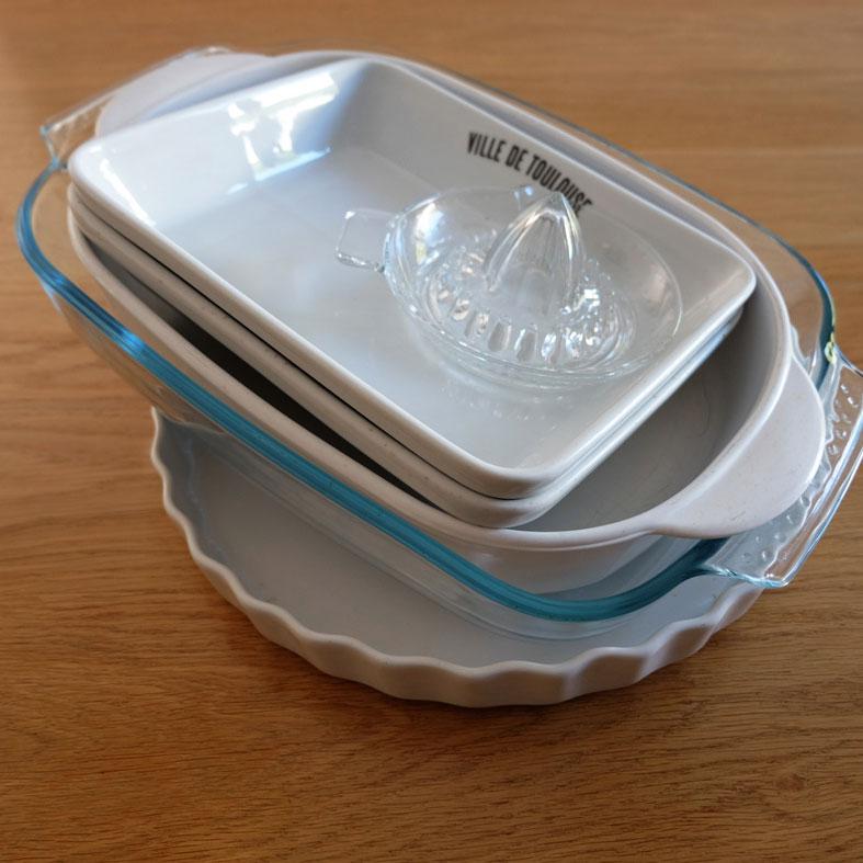 Des plats en verre et en céramique pour remplacer le plastique