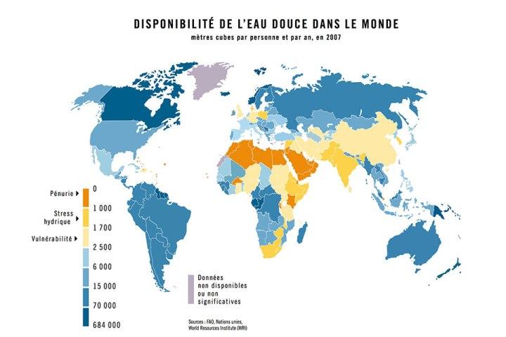 Disponibilité en eau douce dans le monde