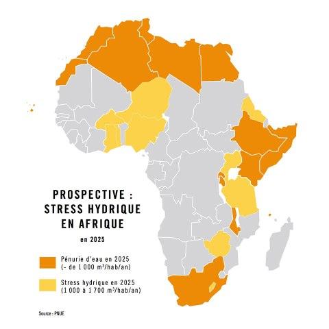 Infographie sur le stress hydrique en 2025