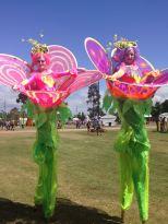Beautiful giant walking flower ladies