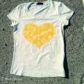 yellow heart front