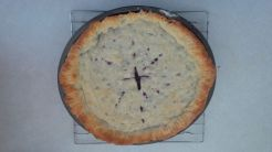 Baked my first pie using wild Arctic bilberries.