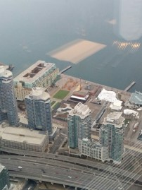 A horrible picture of the beautiful Harbourfront Centre, where I used to work!