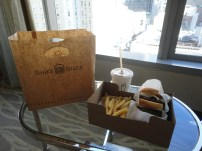 (We lived right beside Shake Shack so we just brought the food up to our hotel room to eat!)