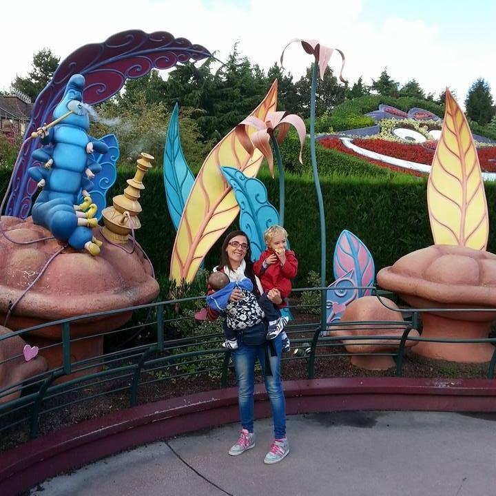 una famiglia a Disneyland Paris