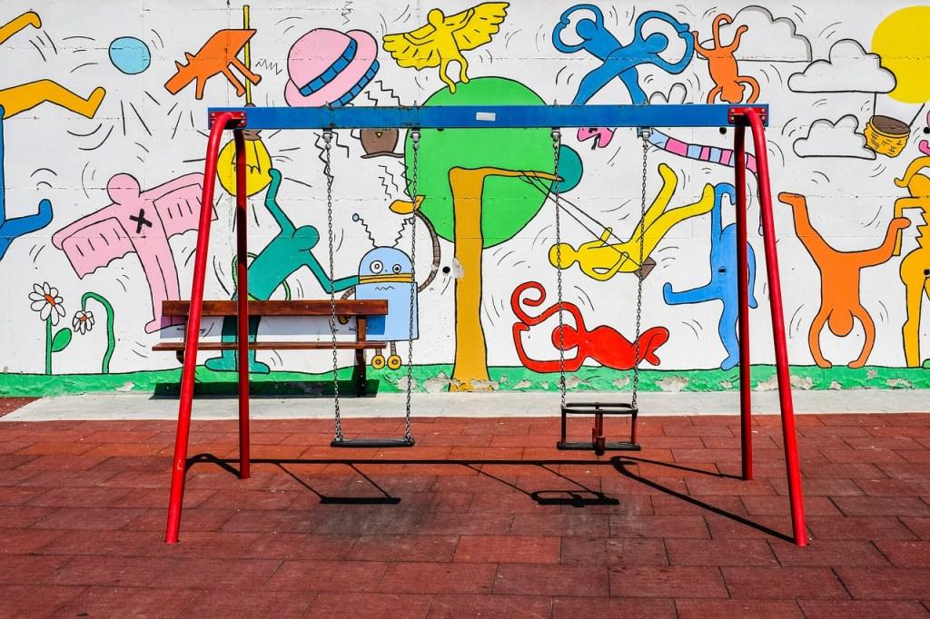 parco giochi per bambini in viaggio