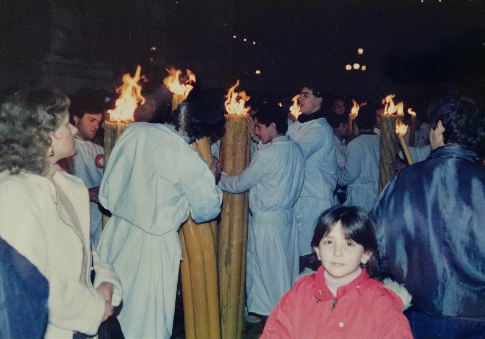 bambina alla festa di sant'Agata