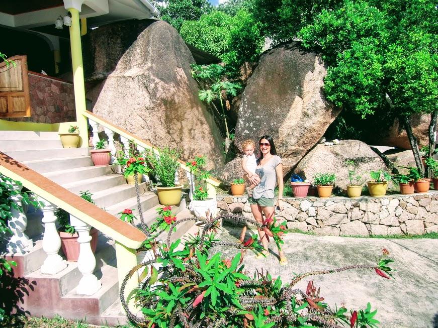 acquario villa guest house durante il nostro viaggio di nozze alle seychelles con bambini