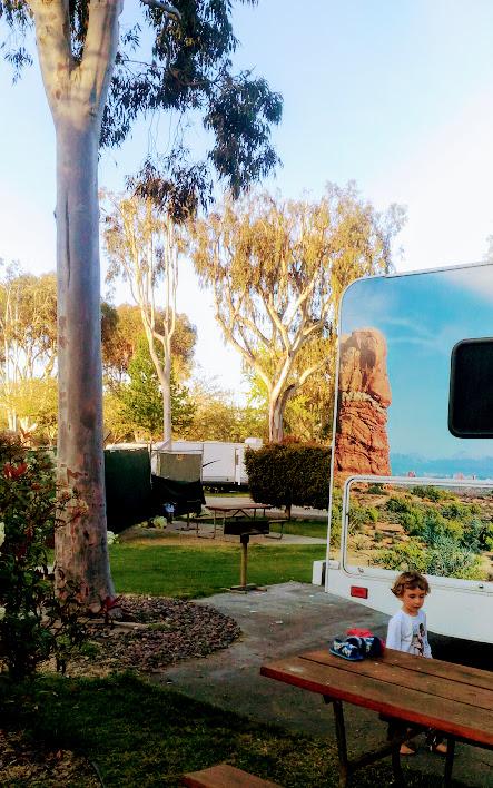 bambino al san diego koa campeggio