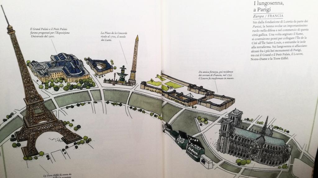 illustrazione Parigi e lungo senna