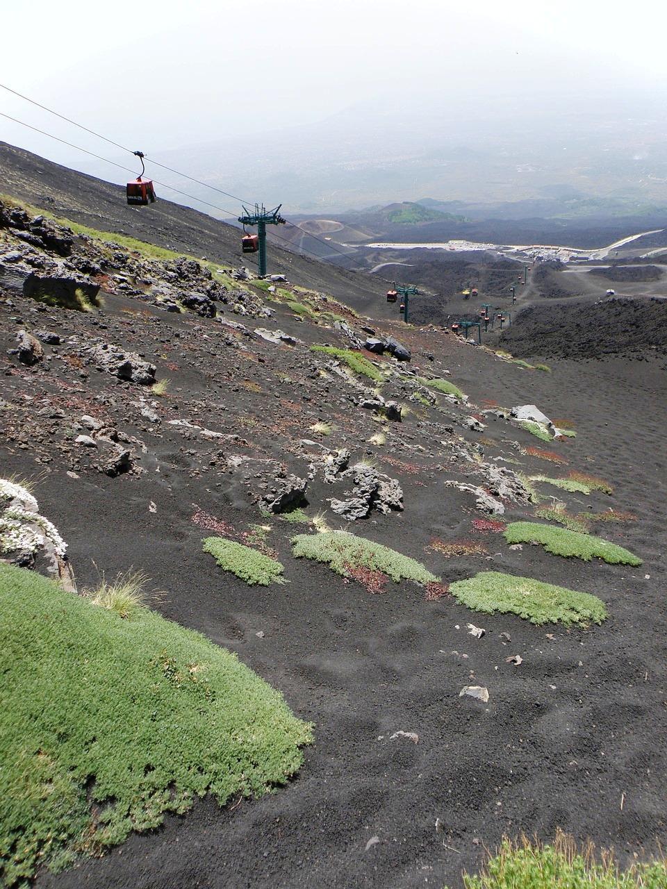 funivia per salire sull'Etna con i bambini