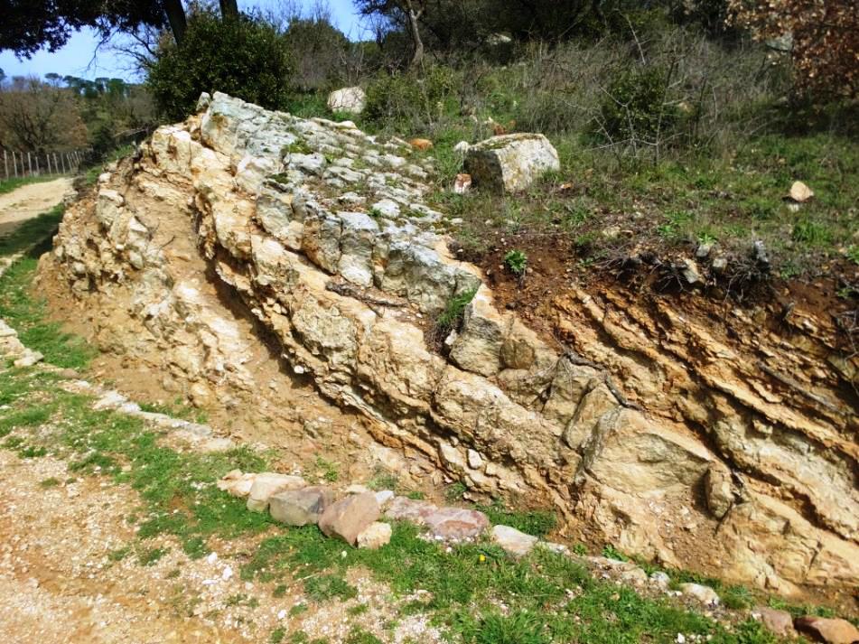 una roccia tipica del monte altesina a Enna