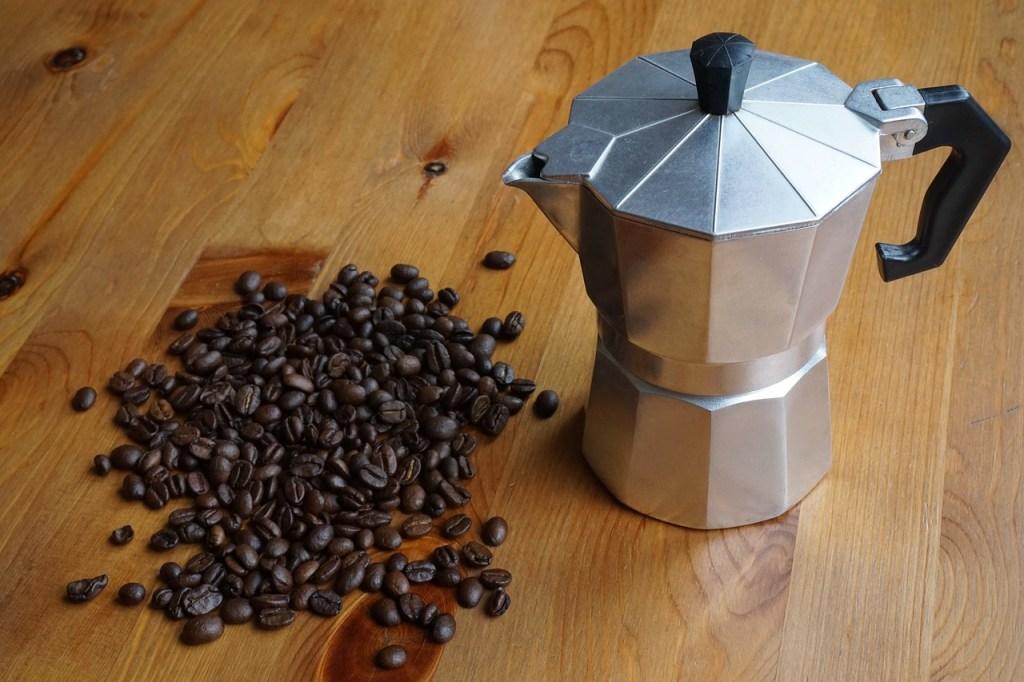 una caffettiera