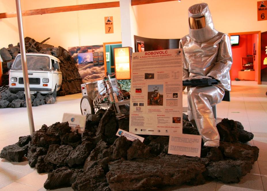 robovolc al museo della lava