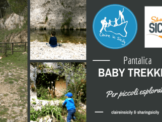 bambini che fanno trekking a Pantalica
