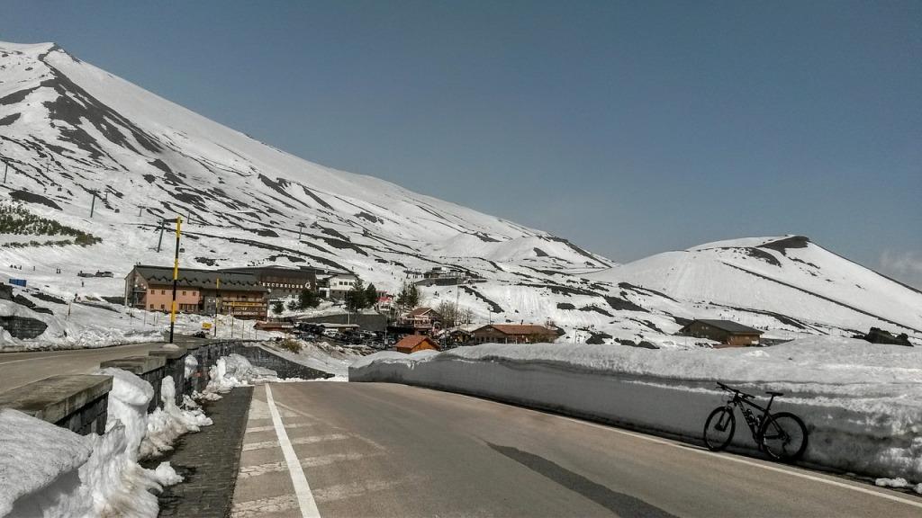 etna con la neve